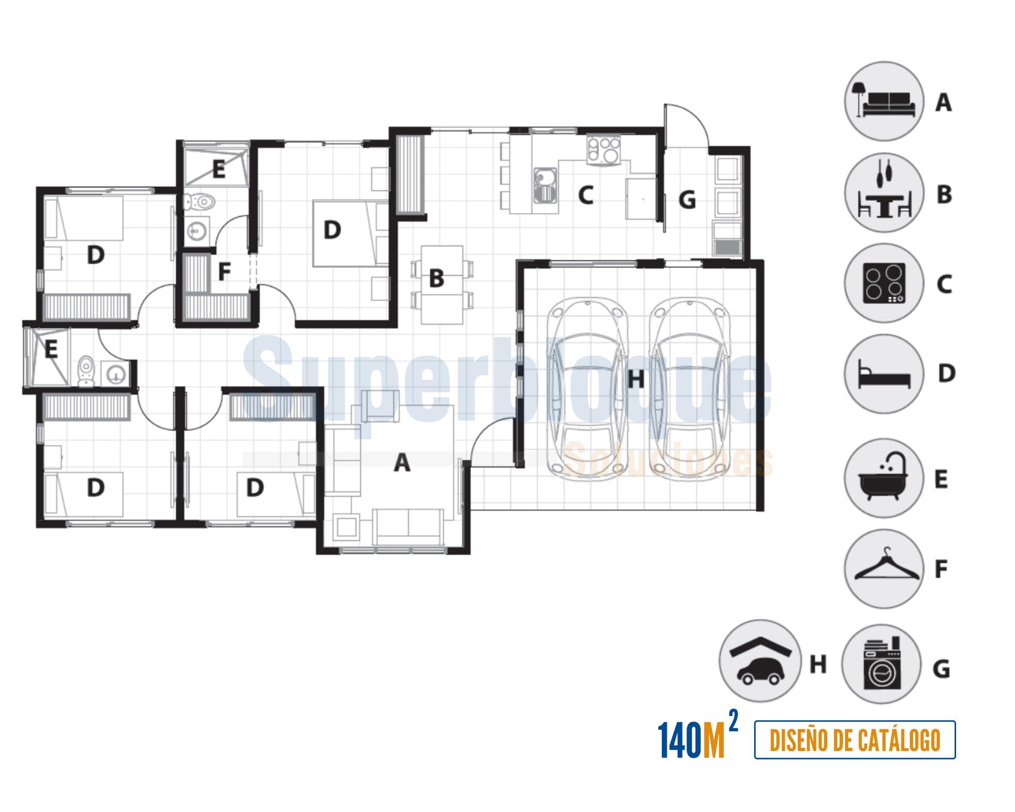 vivienda 140m2